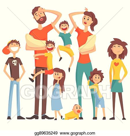 Tired clipart tired parent. Eps vector happy caucasian