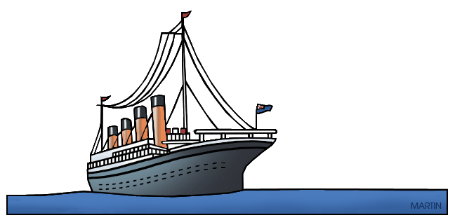 Titanic clipart. World history clip art