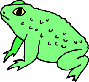 Toad clipart. Pencil and in color