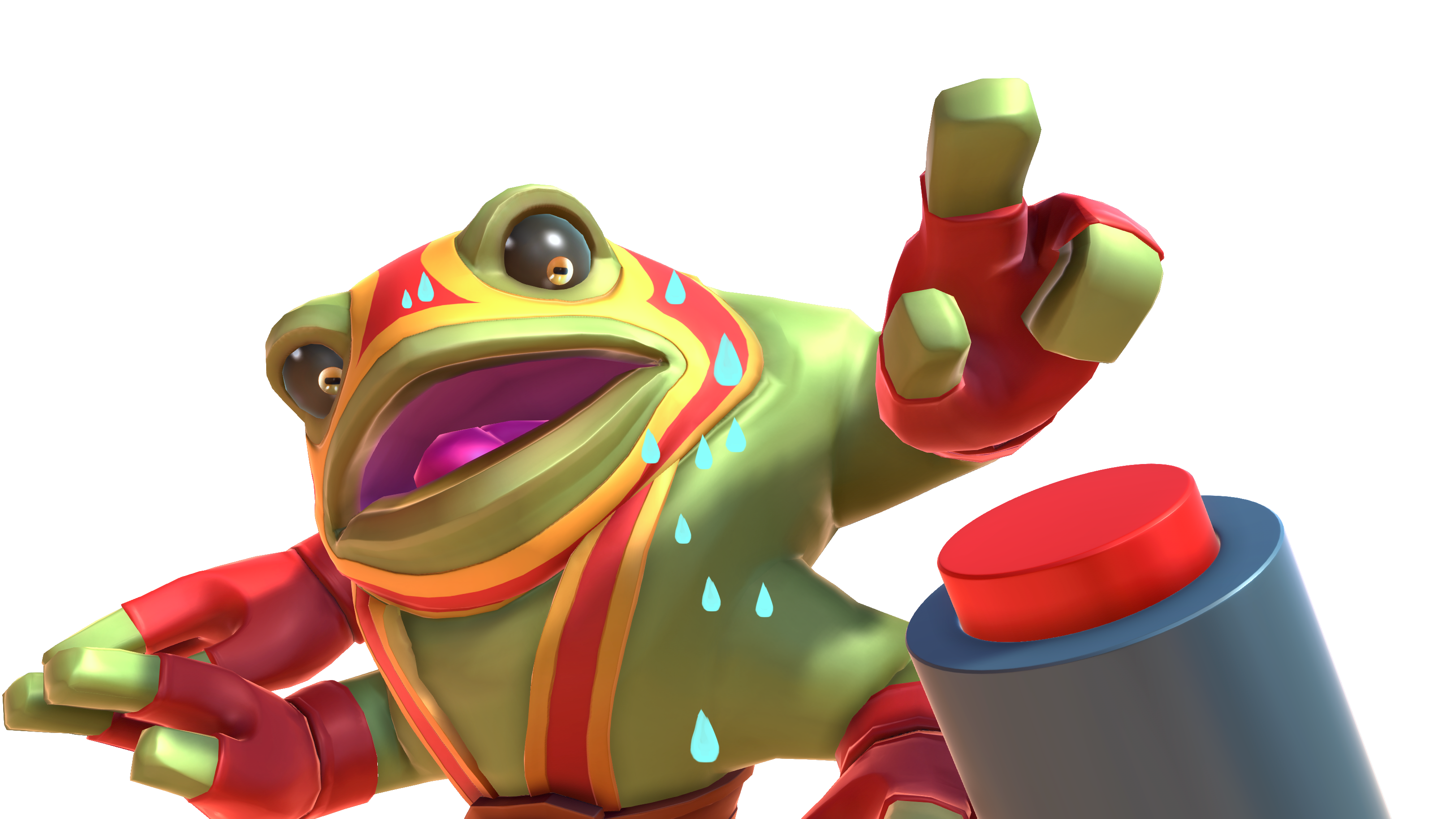 Toad clipart angry frog. Brawlout switch codes