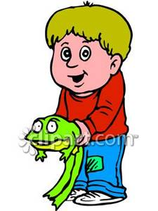 Toad clipart boy. A young holding big