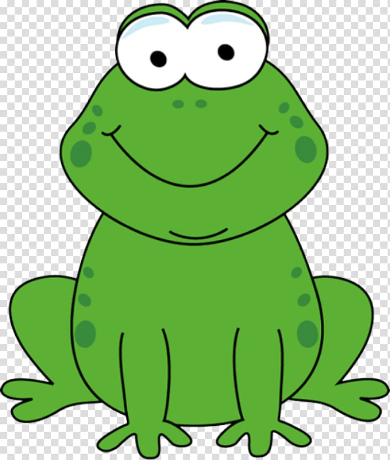Frog cute transparent background. Toad clipart colour green