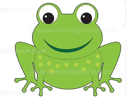 Thing x free clip. Toad clipart colour green