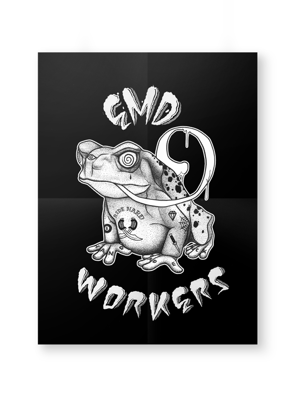 Emd workers arthur denonain. Toad clipart crapaud