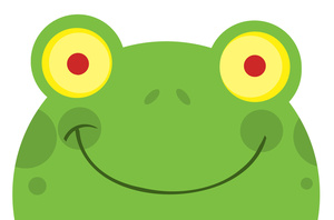 Toad clipart face. Free frog image