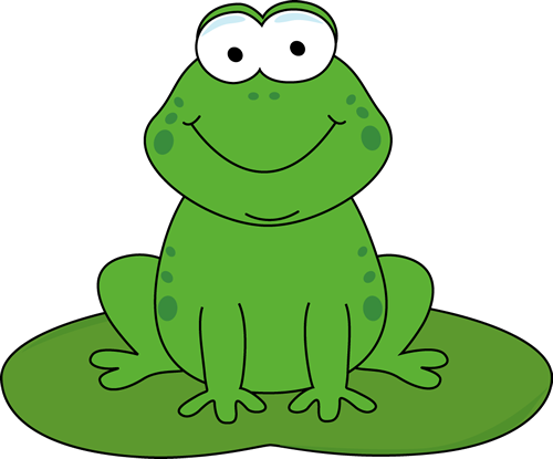 Clip art cartoon on. Toad clipart frog lily pad