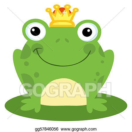 Vector stock happy illustration. Toad clipart frog prince