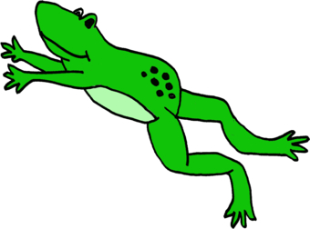 Jumping frog free download. Toad clipart jumps