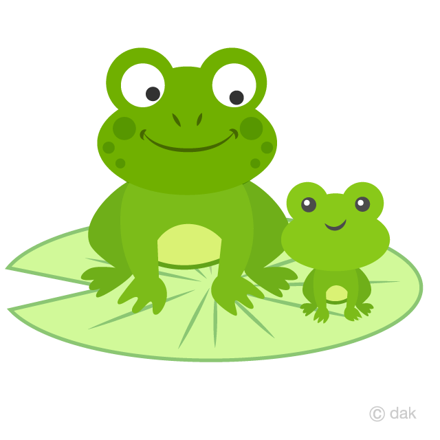 Toad clipart small frog. Parent and child frogs