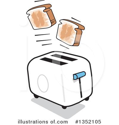 Toaster clipart. Illustration by johnny sajem