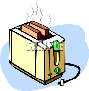 Two pieces of bread. Toaster clipart