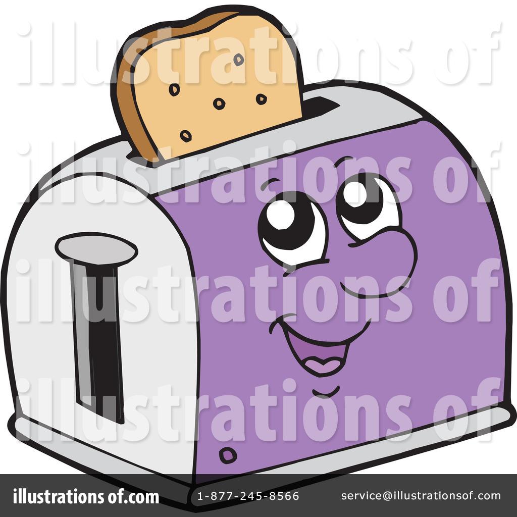 Toaster clipart. Illustration by visekart royaltyfree