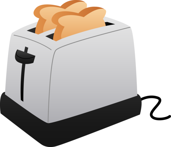 Toaster clipart. And slices of toast