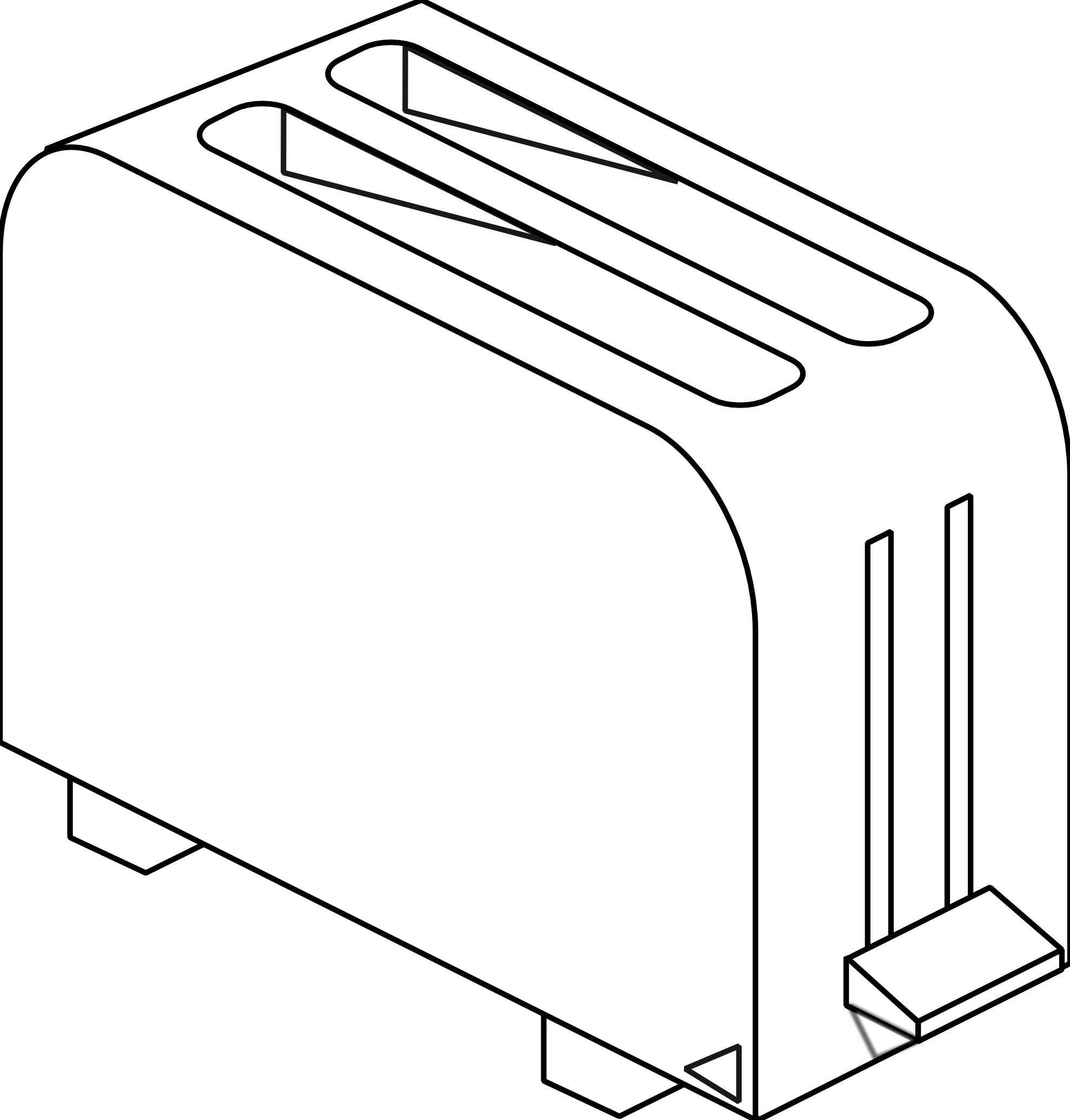 Toaster clipart sketch. Black and white coloring