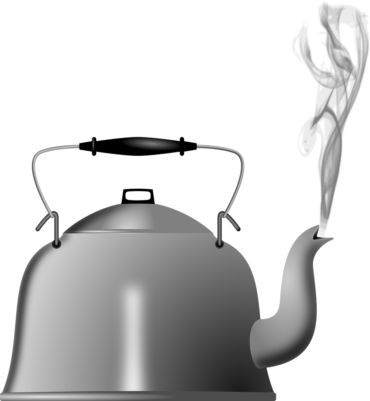 Kettle steam kitchen boiling. Toaster clipart small appliance