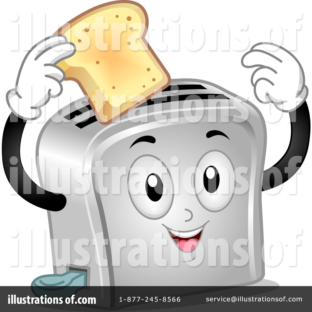Illustration by bnp design. Toaster clipart stock photo