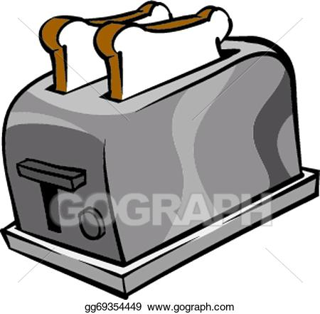 Vector illustration gg . Toaster clipart stock photo
