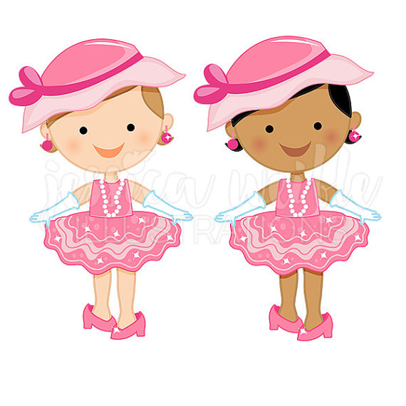 Dress up baby girl. Toddler clipart