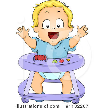 Toddler clipart. Illustration by bnp design