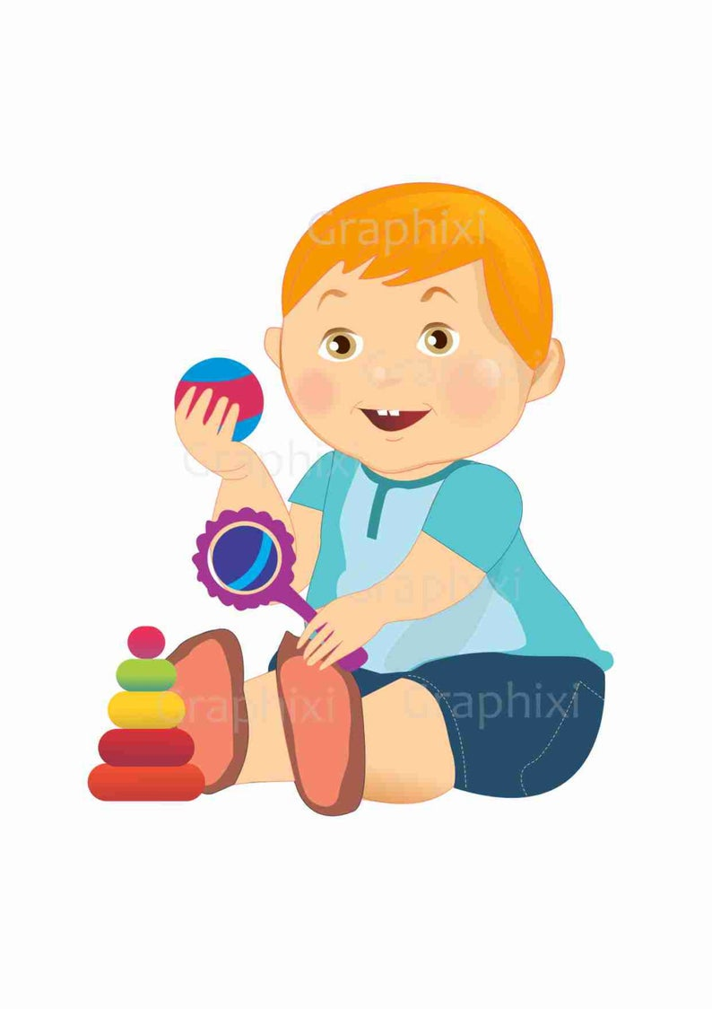Boy clipart toddler. Baby commercial use kids