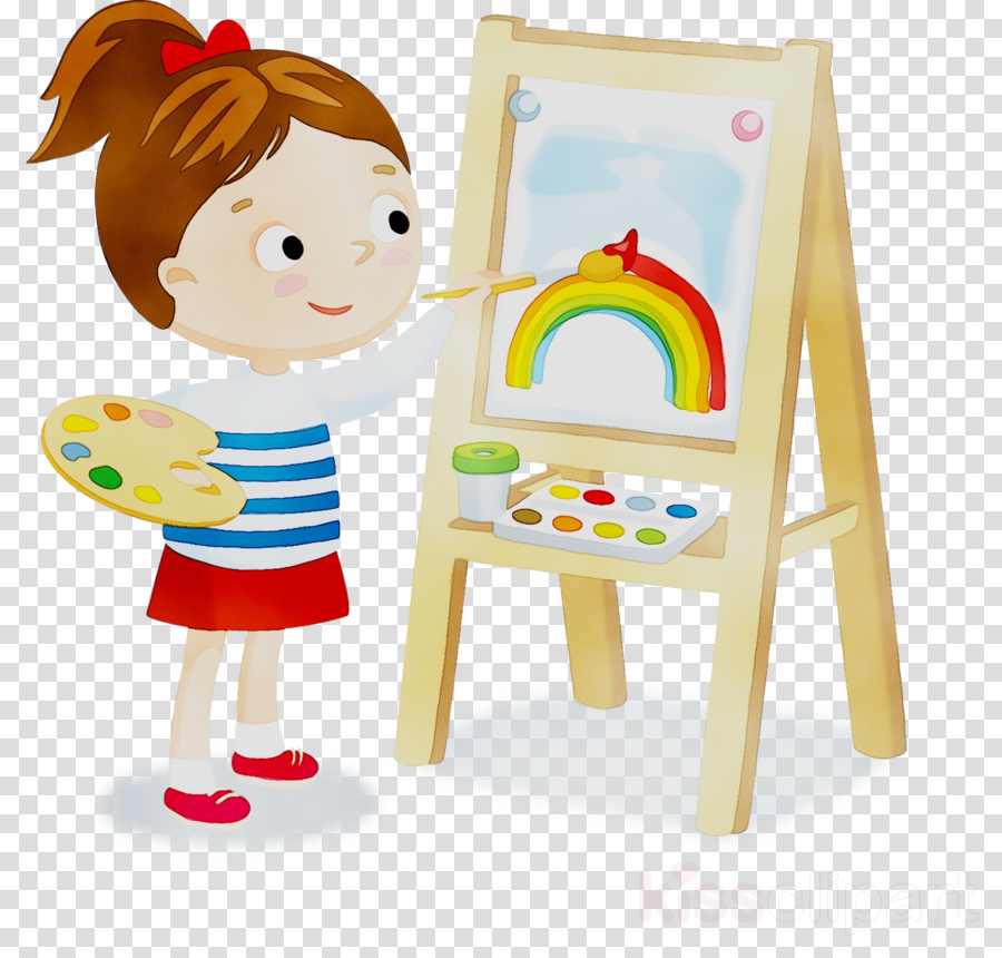 Toddler clipart baby learning. Easel background play child