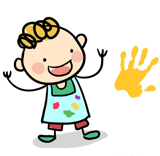 Cliparts making the web. Toddler clipart daycare