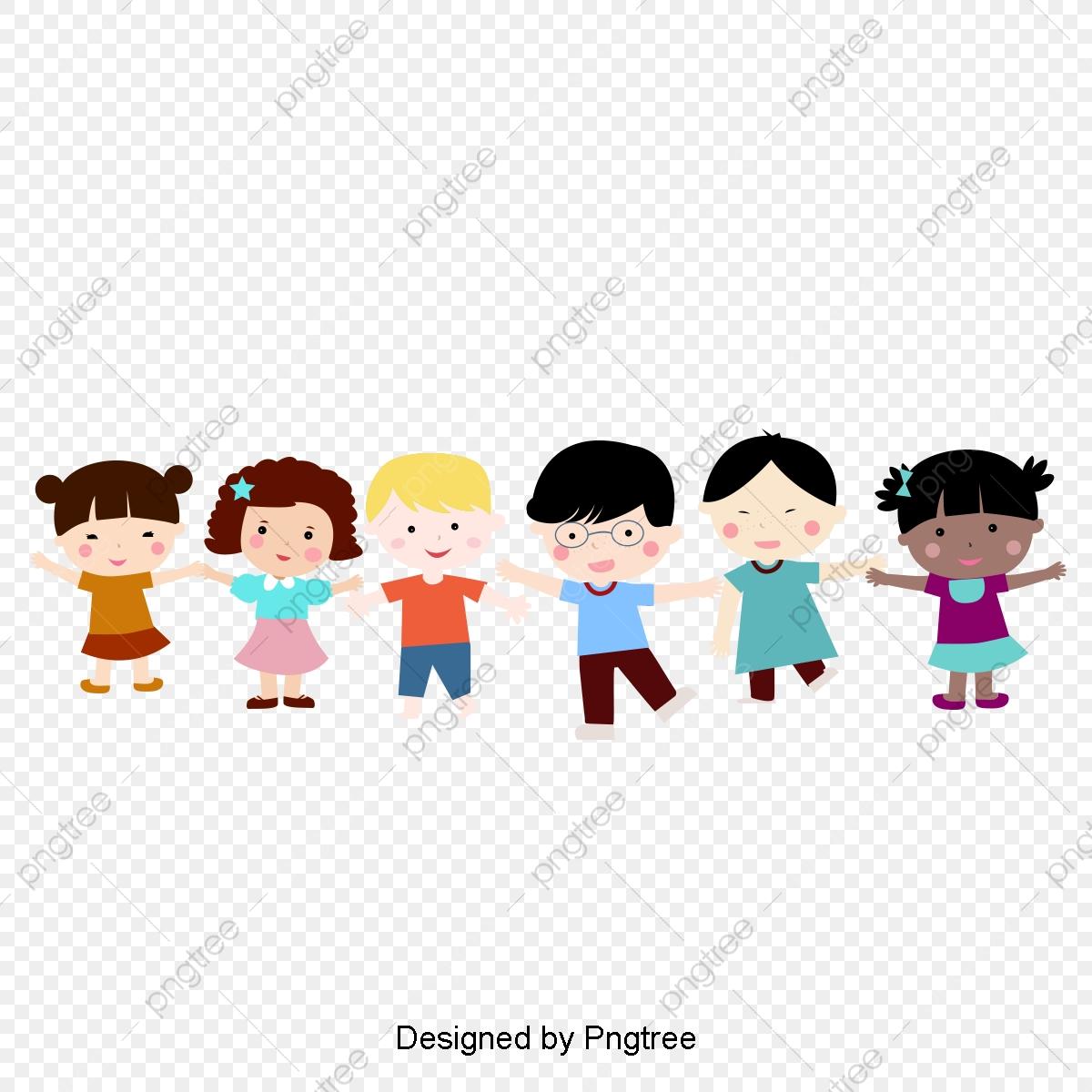 Toddler clipart nice kid. Cartoon children holding hands