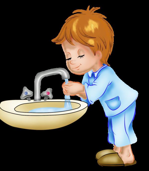 Child boy drawing hygiene. Toddler clipart washing hand