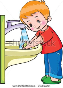 Children hands free images. Toddler clipart washing hand