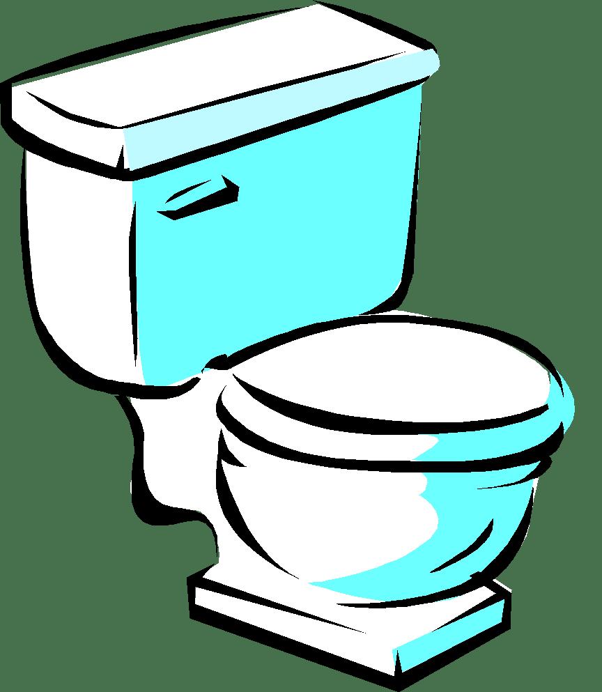Clipart bathroom. Drain toilet wheeling it
