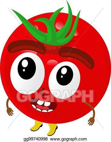 Vector stock cartoon illustration. Tomatoes clipart arm leg