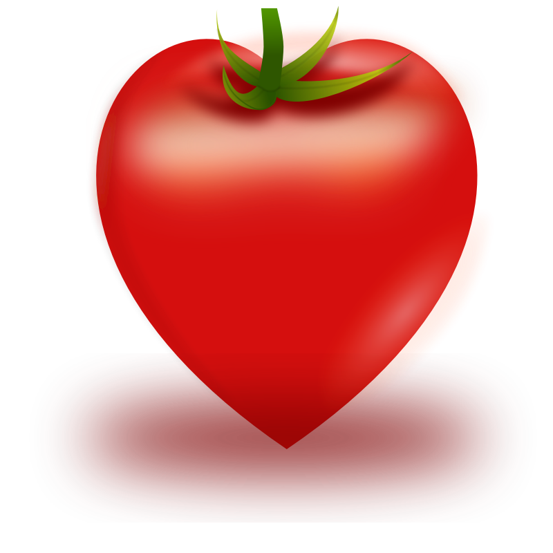 Tomatoes clipart coloring page. Free big heart images
