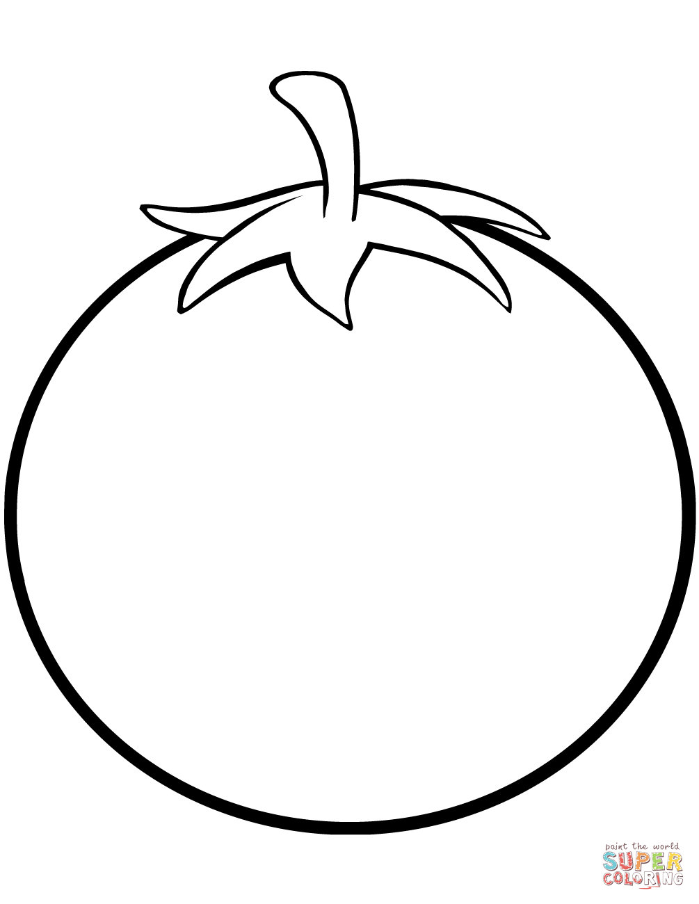 Pages free . Tomatoes clipart coloring page