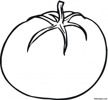 Tomatoes clipart colour. Printable vegetables tomato coloring