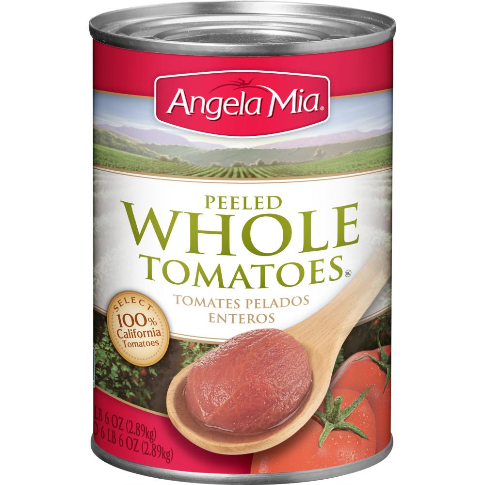 Tomatoes clipart diced tomatoes. Angela mia whole peeled