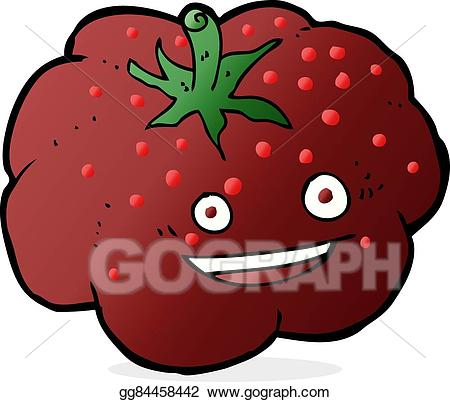Tomatoes clipart happy tomato. Vector art cartoon drawing
