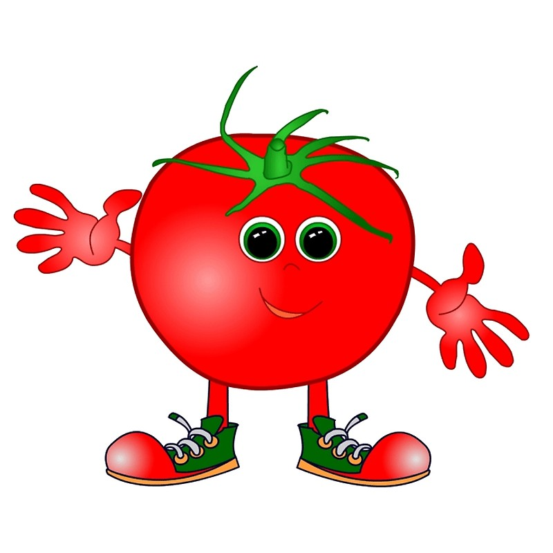 Art print . Tomatoes clipart happy tomato