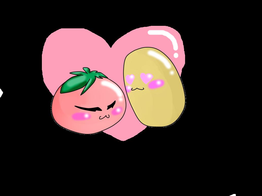Tomatoes clipart potato. I love you tomato