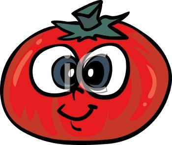 Tomato cartoon character free. Tomatoes clipart smile