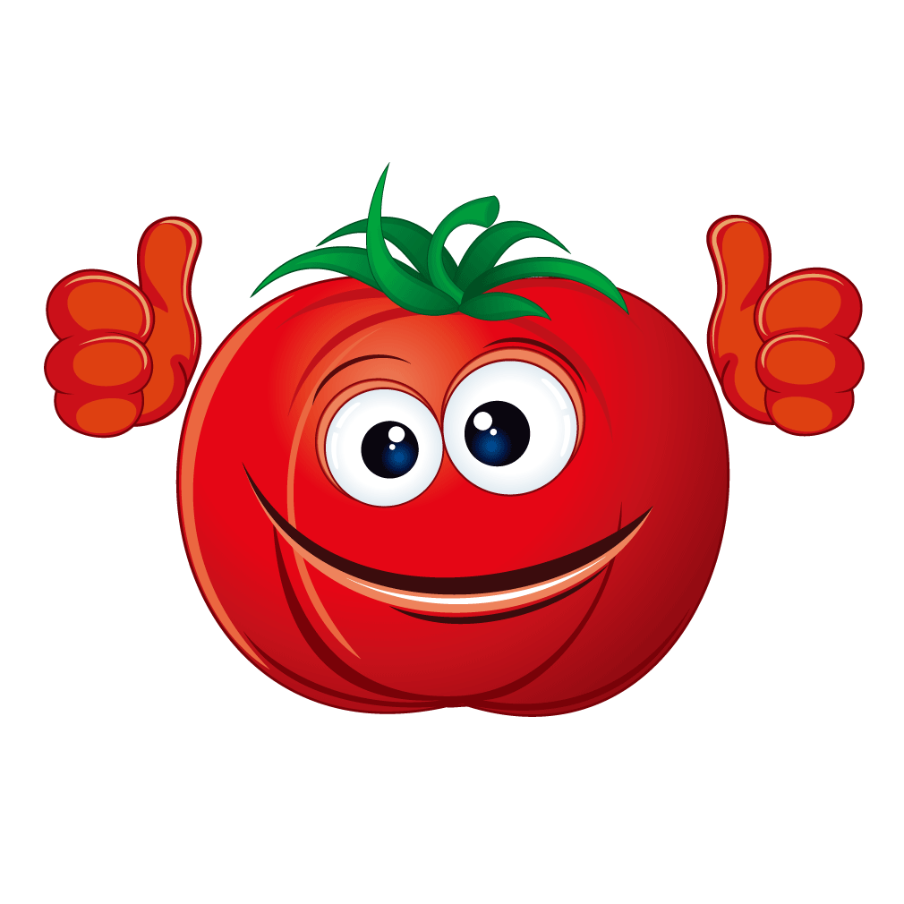 Tomato smiley cartoon red. Tomatoes clipart smile