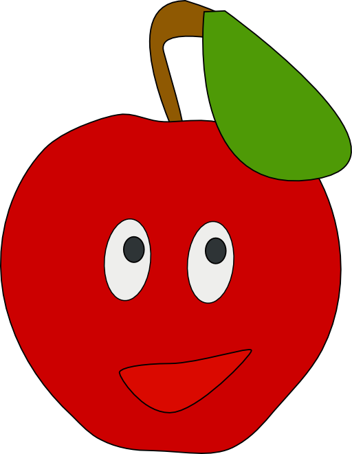 Tomatoes clipart svg. Smiling apple i royalty