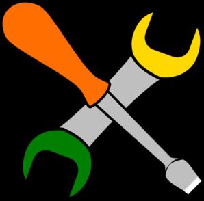 Tool clipart. Coloured tools clip art