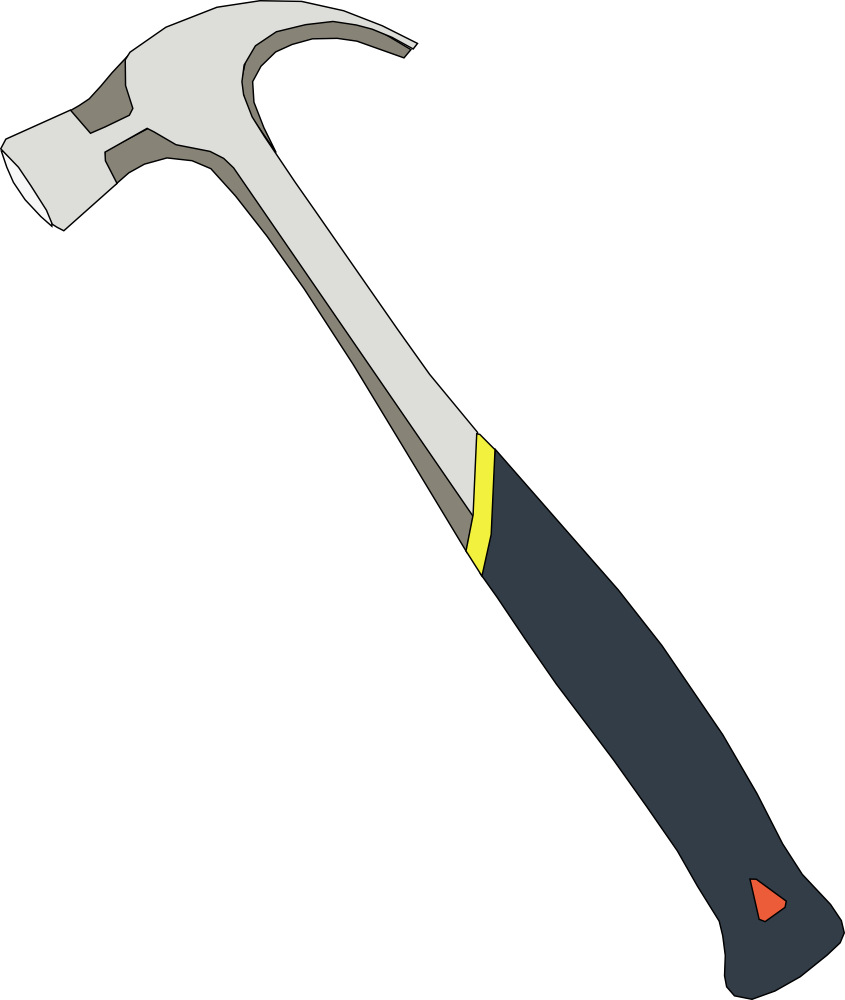 Tool clipart claw hammer. Onlinelabels clip art