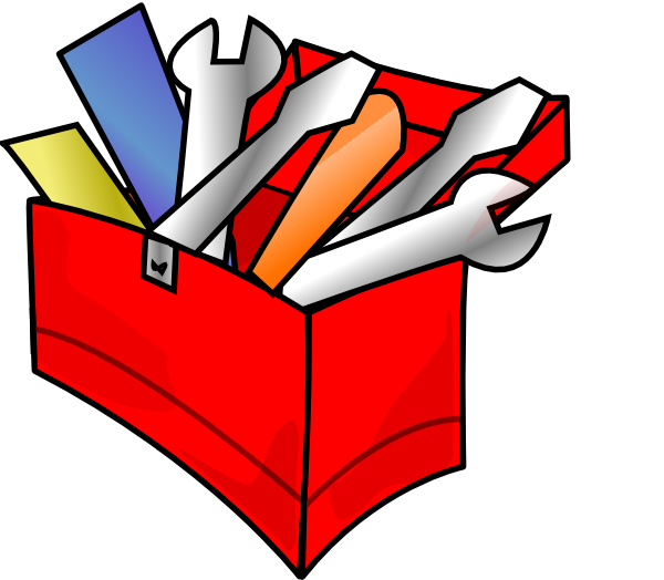 Red toolbox full clip. Clipart box cartoon
