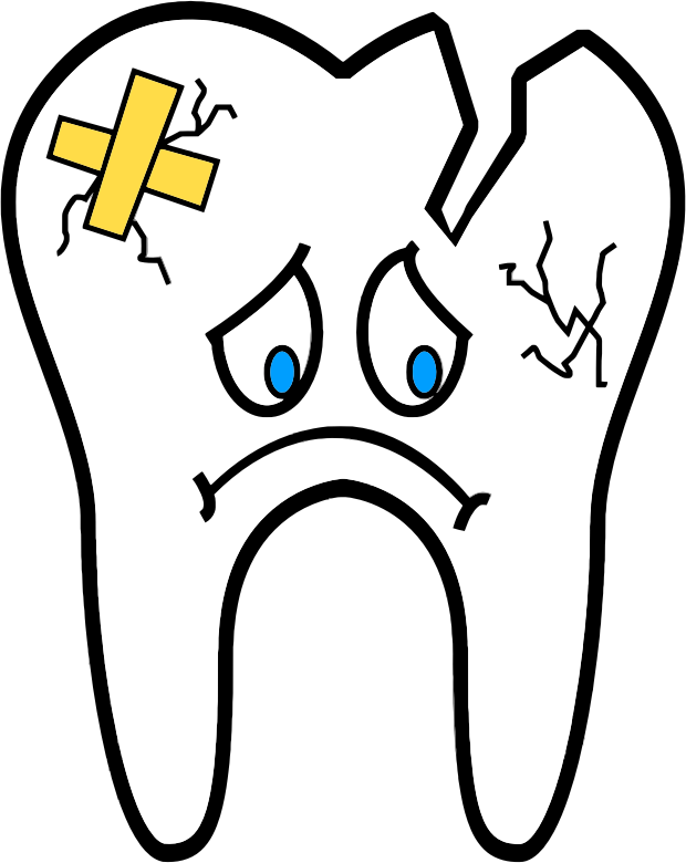 Tooth clipart. Unhealthy medium image png