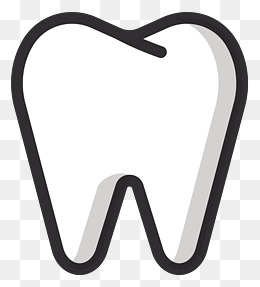 Tooth clipart. White png image jokingart