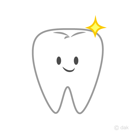 Tooth clipart. Free cute character clip