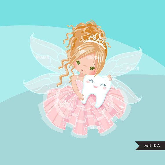 Fairy cute character graphics. Tooth clipart angel