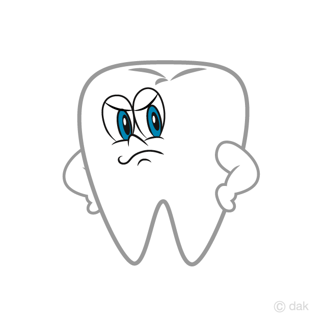 Tooth clipart angry. Cartoon free picture illustoon