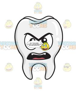 . Tooth clipart angry
